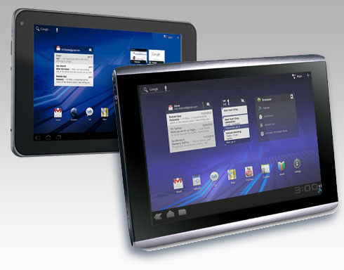 Acer Iconia and T-Mobile G-Slate Android Tablets